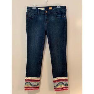 Pilcro & Letterpress Anthro Stet Boho Crop Jeans